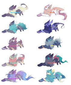 4 (Nightshade) is mine, 1 and 8 were adopted by @dawn5998, 10 was adopted by @mcdove88, 9 was adopted by @laurenragdoll