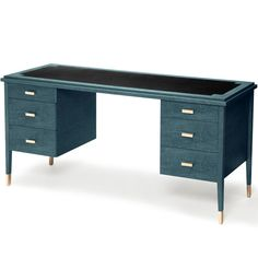 Geneva Desk Black and Key