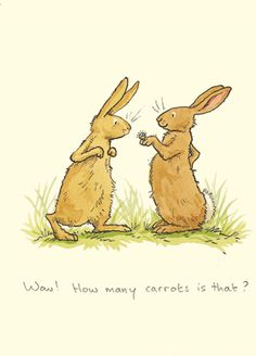 M90 WOW...HOW MANY CARROTS IS THAT?  A Two Bad Mice Card by Aniota Jeram