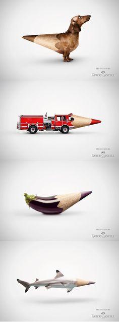 Campanha da Faber Castell: True colours!