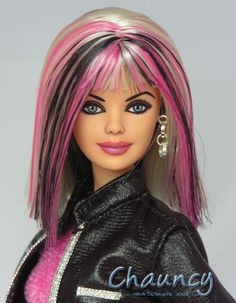 OOAK doll...love the hair and face repaint!