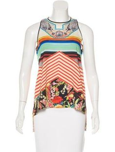 Cheap Sale Best Prices Clover Canyon Digital Print Sleeveless Top Cheap Sale Newest Geniue Stockist Cheap Online Clearance Official s3zhlu9