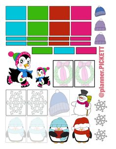 Full Faith: Winter Themed free planner stickers printable