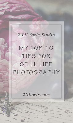 My top 10 tips to getting the most from your still life photography - 2 Lil'…