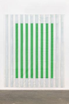 Daniel Buren, Paint On - Under Plexiglas on Serifraphy - Framing No. 1 - Situated Work - 2013 - Acrylic Paint on Plexiglas over Striped Cotton Canvas - 250.2 x 210.2 x 6 cm. on ArtStack #daniel-buren #art