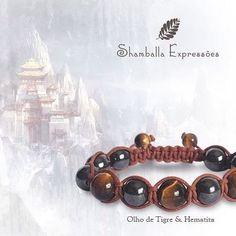 Pulseira Shamballa Unissex confeccionada em macramê e pedras naturais - Hematita e Olho de Tigre - energizadas com energia Reiki 11 pedras de 10mm e 2 pedras de 8mm  COMPRE PELO SITE: http://www.elo7.com.br/42FDAA  #jewelry #biojoias #yoga #yogis #om #zen #espiritual #stone #hippie #acessorios #shiva #meditação #meditation #amor #paz #expressoescosmicas #shamballa #shamballaexpressoes #yogalifestyle #handmade  #pulseirismo #pedrasnaturais #bracelets #boho #bohochic #energy #hippiechic