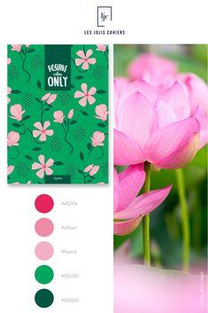 Créez votre cahier personnalisé à partir de jolies nuances qui suivent les tendances de la mode et de la déco. #nuancier #palette #inspiration #photo #nature #printemps #rose #vert #cahier #notebook #personnalise #lesjoliscahiers Positive Vibes Only, Le Jolie, Positivity, Rose Vert, Color, Palette, Nature, Inspiration, Shades
