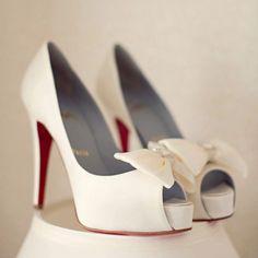 White Christian Louboutin Shoes // photo: Kristen Taylor Photography
