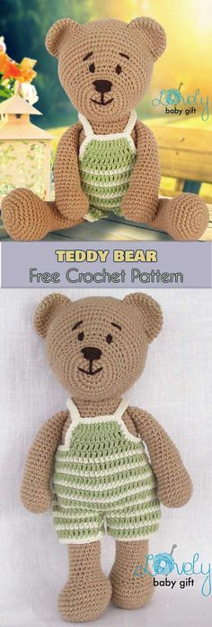 Teddy Bear Amigurumi Free Pattern This amigurumi teddy bear will be loved by anyone who gets one. Crochet it for a gift! #freecrochetpatterns #crochettoys #teddybear #amigurumipattern