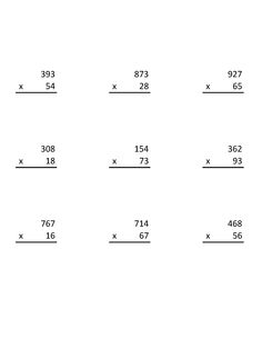 Multiplication Worksheet 100 Vertical Questions