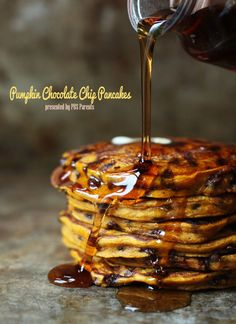 Please the pumpkin lovers in your family with these incredible Pumpkin Chocolate Chip Pancakes.