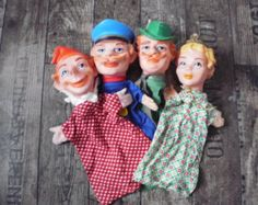 vintage hand puppets , Punch and Judy puppets