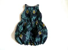 Ikat and Linen Sunsuit on Etsy