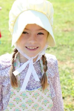Little House On The Prairie Party! The bonnets and aprons are so darling!!