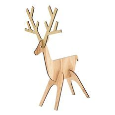 Wooden Mdf Reindeer 3d nose Baubles christmas tags decoration xmas with hole  E3