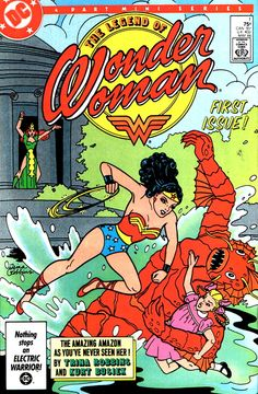 The Legend of Wonder Woman (No.1, May 1986) Cover Art by Trina Robbins