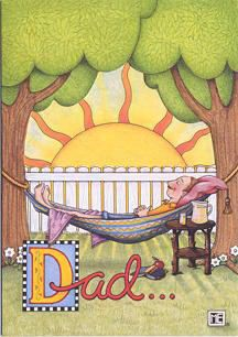 Mary Engelbreit Relax Father's Day Card