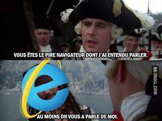 Les pirates des caraïbes X internet explorer !