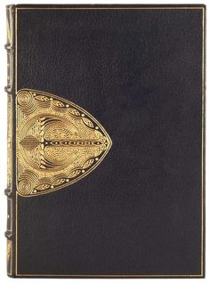 """(Oh, my god.)— """"Binding by Otto Zahn / Zahn Bindery. Author: Ruskin, John, 1819-1900. The seven lamps of architecture. Published: 1880. Virtually all Zahn bindings seem to be in private collections; this is the only one at Princeton."""""""