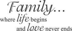 Family where life begins and love never ends 36 x Wall Art in Words Vinyl lettering Decals Price Quote, Vinyl Lettering, Wall Quotes, Wall Art, Love, Decals, Words, Writings, Friends