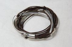 Leather Wrap Bangle Bracelet Chocolate Brown by wrapsbyrenzel, $19.95