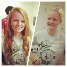 High school girl shaves her head for kids with cancer | St. Baldricks Blog | Childhood Cancer Stories  Research