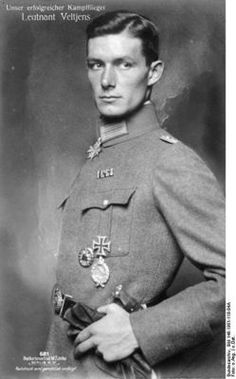 """Josef Veltjens WWI German fighter pilot ace (Jagdflieger), arms dealer, Nazi emissary, and generally amazing looking guy. """" My submission! Yay!"""