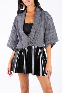 Tweed Mono Kimono Jacket – 7 DAY UNLIMITED ($110AUD) by BlackMilk Clothing