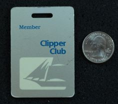 Pan Am Airlines Clipper Club Luggage Tag #9804