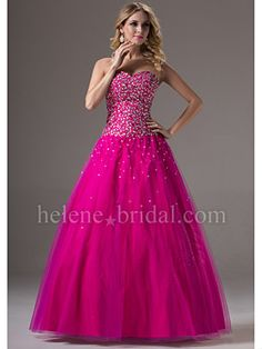 A-Line Ball Gown Princess Strapless Sweetheart Long / Floor-Length Tulle Prom Dress - US$ 229.99 - Style PD9433 - Helene Bridal Perfect in BLUE!