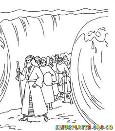Moses is revered as the prophet in Christianity religion. The best way to hold their interest is by providing them these free printable moses coloring pages Bible Coloring Pages, Coloring Sheets, Coloring Books, Sunday School Activities, Sunday School Crafts, Bible Story Crafts, Bible Stories, Moses Red Sea, Crossing The Red Sea