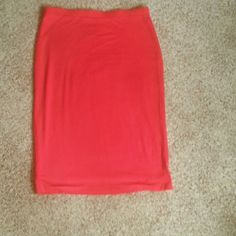 Skirt Red skirt 95 rayon, 5 spandex. Machine wash and dry worn once Cato Skirts Pencil