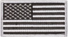 """Iron On / Sew On Military Patches - 2"""" x 3"""" Embroidered US Flag Patch"""