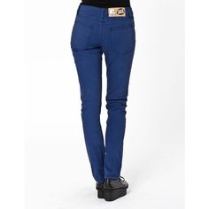 Womens Cheap Monday Tight Skinny Jeans - OD Worker Blue (71 CAD) ❤ liked on Polyvore