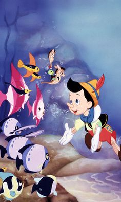 When you love someone, their life can mean more to you than your own To become a real boy, all the wooden puppet, Pinocchio, had to do w. Disney Magic, Disney Pixar, Walt Disney, Disney Amor, Disney Animation, Disney Cartoons, Animation Film, Disney Love, Disney Characters