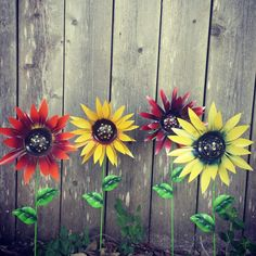 Sunflower Garden Stake Ornaments.. Perfect Garden Decor For The Upcoming  Fall Season! Custom Made In Any Color!.. Https://www.etsy.com/listing/448u2026