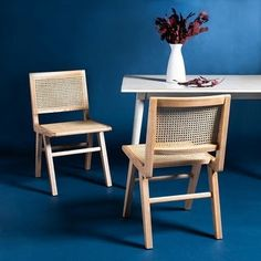Expressing the opulent side of luxurious coastal decor, the Hattie French Cane Dining Chair lends classy-casual character to the dining experience. Hattie's minimalist natural ash wood frame is styl. Rattan Dining Chairs, Kitchen Chairs, Dining Chair Set, Outdoor Chairs, Folding Dining Chairs, Bar Furniture, Furniture Deals, French Furniture, Chair Types