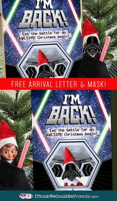 Free printable Elf on the Shelf Star Wars Arrival idea & letter! Your boys will love this arrival idea! And it is super EASY & QUICK!! #elfontheshelf #arrival #ideas #free #printable #letter #easy #DIY #kids #starwars #quick Elf On Shelf Printables, Free Printables, The Elf, Elf On The Shelf, Easy Crafts For Kids Fun, Santa Letter Template, Kindness Elves, Christmas Elf, Christmas Stuff