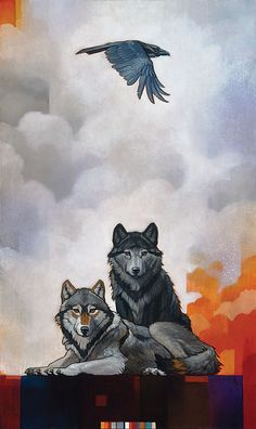 """""""Druid Alphas with Raven"""" by Craig Koask. Find it through The Greenwich Workshop, Inc."""