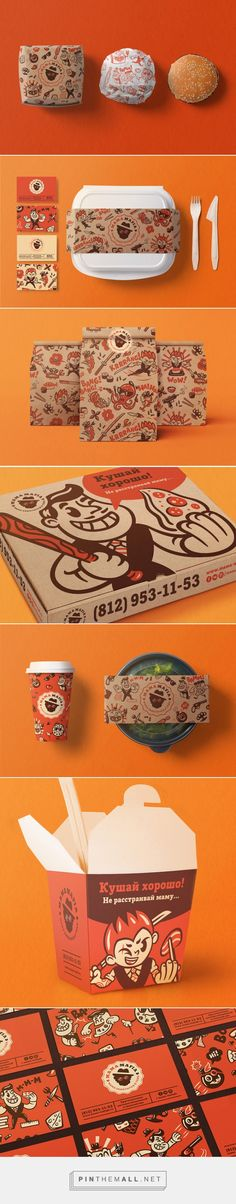 Mama Mafia #Takeout #food #packaging designed by Dima Je - http://www.packagingoftheworld.com/2015/07/mama-mafia.html