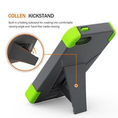 Collen iPhone SE Case iPhone 5 Case, [KICKSTAND] [Air Buffer Corners] ULTRA BUMPER [TOUGH] DUAL LAYER Case for iPhone 5S 5 SE - Green-Grey. 1.Intense shock-absorbed fortification: double layers + Air Buffer Technology. 2.Tough Durable Makrolon PC back combined with anti-stretch Silicone bumper for grip and a slim profile.Built-in a folding kickstand for hand-free media viewing. 3.All raised lips of cutouts are reinforced for sturdiest durability offer lens & screen protection. 4.Inner...