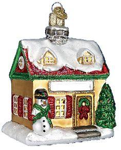 home for the holidays house christmas ornament 20053 merck family old world christmas - Merck Family Old World Christmas