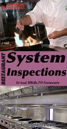 Restaurant System Inspections Millville, PA (215) 641-0100 We're Keystone Fire Protection. Call Today and Discover the Complete Source for all Your Fire Protection!