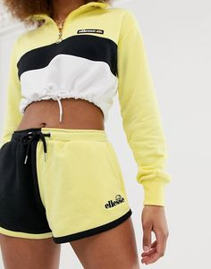 Ellesse shorts with side logo in color block two-piece Two Piece Outfits Shorts, Short Outfits, Cute Outfits, Ellesse Clothing, Robin Outfit, Sport Fashion, Fashion Outfits, Festival Outfits, Streetwear Fashion