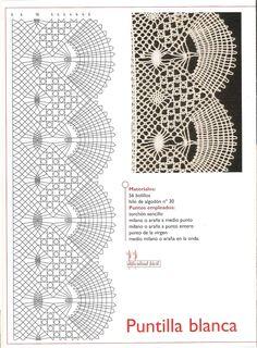 Foto: Crochet Borders, Crochet Motif, Crochet Lace, Bobbin Lace Patterns, Crochet Stitches Patterns, Crochet Chicken, Bobbin Lacemaking, Hairpin Lace, Lace Heart