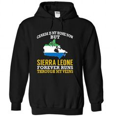Canada is My Home Now But Sierra Leone Forever Runs Thr - #creative gift #day gift. TRY => https://www.sunfrog.com/States/Canada-is-My-Home-Now-But-Sierra-Leone-Forever-Runs-Through-My-Veins-wmxokabuke-Black-Hoodie.html?68278