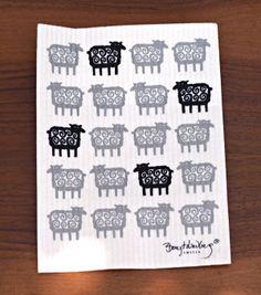 Black Sheep Dish Cloth by Klippan