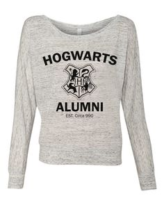 Harry Potter Hogwarts Alumni - Ladies Long Sleeve Slouchy Pullover