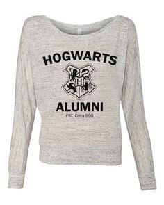 Harry Potter Hogwarts Alumni - Ladies Long Sleeve Slouchy Pullover