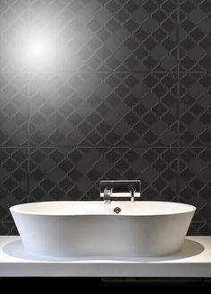 Montage Navona Nero 290X290 Fan Mosaic  Fans Bathroom And Mosaics Impressive Mosaic Feature Tiles Bathroom Decorating Inspiration